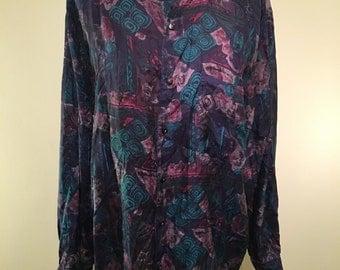 Vintage 80s silk shirt