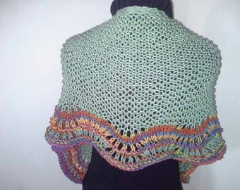 50 Shades of any color shawl/wrap handknit SALE  *ready to ship*