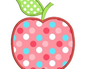 Apple Applique Embroidery design Instant download - 0019