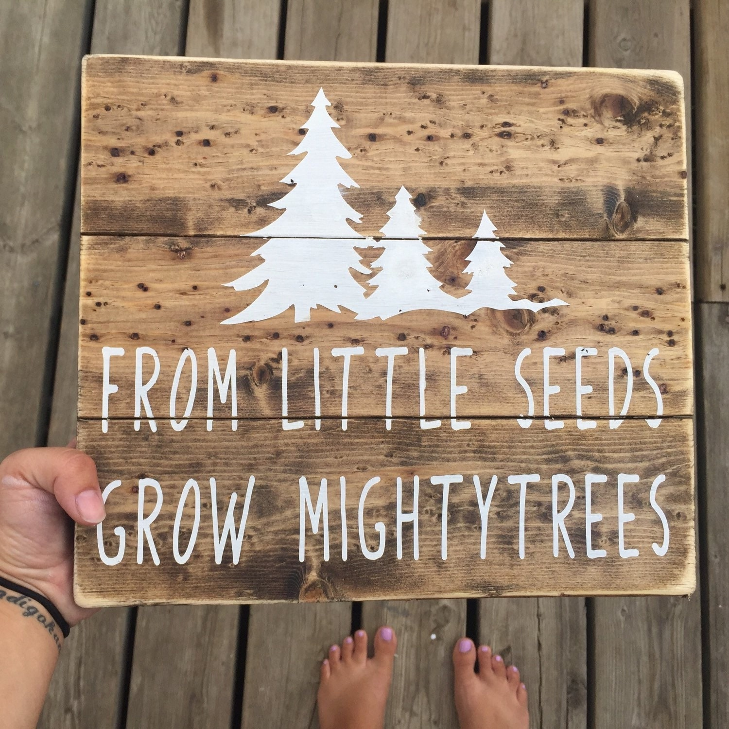 Transitional Nursery With Rustic Wood Wall: Little Seeds Sign Nursery Sign Rustic Nursery Handmade