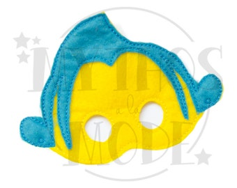 Flounder Fish Felt Mask