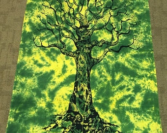 Tree of Life Tie Dye Tapestry