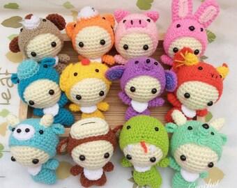 Kawaii Amigurumi Cupcake Keychain : Amigurumi Cute Pigmini crochet dollkawaii