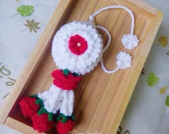 Thai Jasmine Garland,flowers crochet garland,kawaii crochet,Amigurumi,Phuang Malai