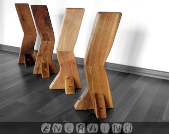 walnut coffee table legs/wood table legs/table