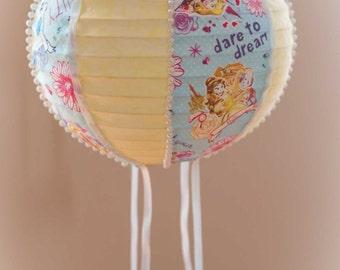 Handmade Hot Air Balloon Decoration~Nursery Decoration~Party Decoration~Disney Princess~Belle~Cinderella~Rapunzel~Aurora~Sleeping Beauty