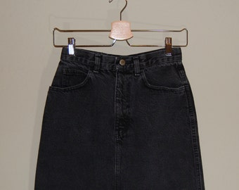 Vintage High Waisted Denim Skirt