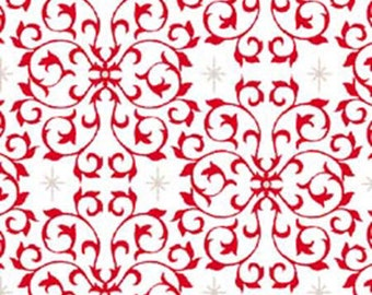 Quilting Treasures - Celebrate the Season - Scroll (Red  23270-R)