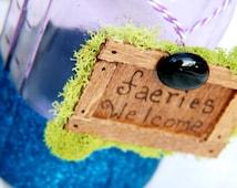Fairy party decorations - Vidia Inspired; Glitter Mason Jar; fairy Party favors
