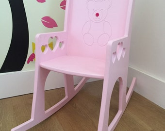 Personalised Childs Rocking Chair