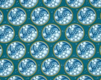 Cascade Bubble Art Deco Bayou Windham Fabrics 100 % Cotton Quilt