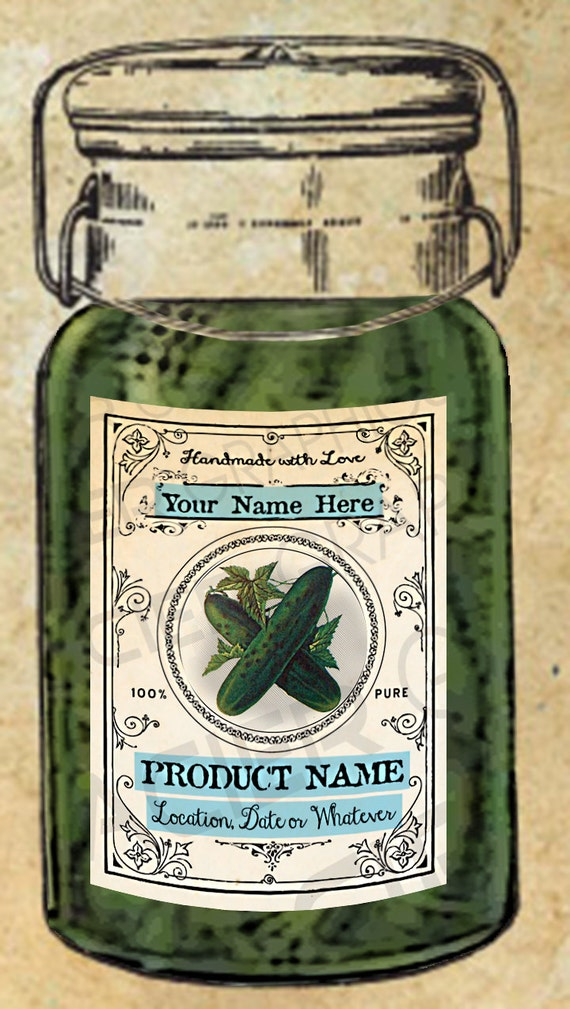 Pickles Labels Pickle Canning Labels Download Pickle Tags EDITABLE ...