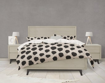 Dalmatian spot pattern duvet cover