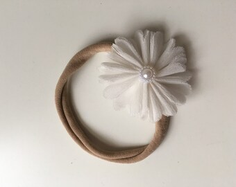 Nylon Flower Baby Headband