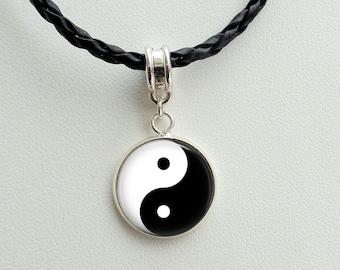 Yin Yang Necklace- Yin Yang charm Pendant  -Yin Yang charm - Yin Yang - Jewelry -Good Karma Jewelry -Spiritual Jewelry