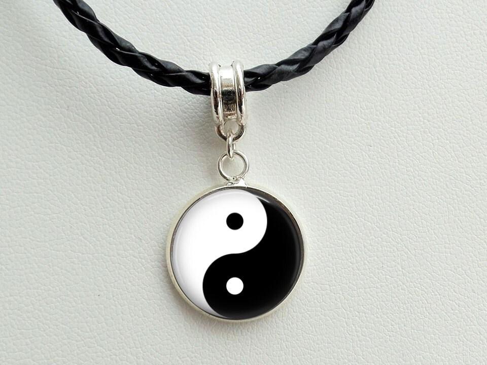 yin yang necklace yin yang charm pendant yin yang charm