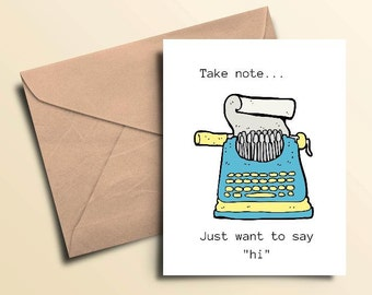 Typewriter Notes Note Cards – Boxed Set of 10 With Envelopes