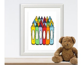 Colorful Crayons Little Ones Print