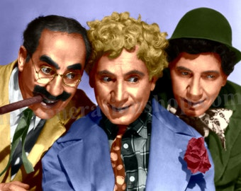 Marx Brothers Poster – Groucho, Harpo & Chico Comedy Team