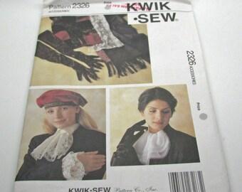 Kwik Sew 2326 Victorian Style Accessroies  Gloves Cuffs Jabot Shawl Uncut Pattern
