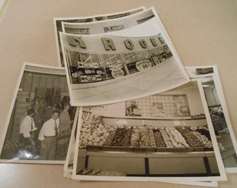 Vintage Photo Kroger Grocery Store Lot of 11
