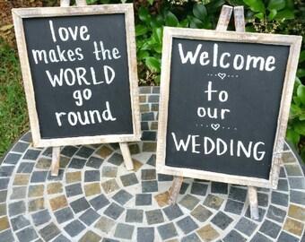 Tabletop Wooden Chalkboard Signs