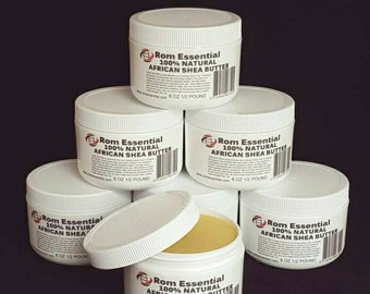 100% Pure Unrefined Organic African Shea Butter 8oz ( FREE SHIPPING)
