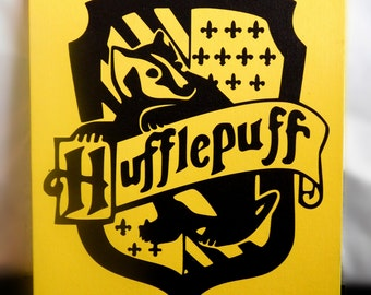 Hufflepuff Canvas Panel