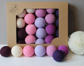 Cotton Balls Violets 20 items