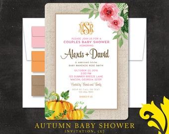AUTUMN baby shower invitation