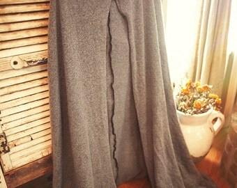 Handmade Blue/Grey Hooded Cloak