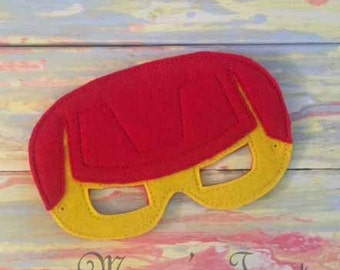 Deluxe Felt Mask -- Kids Mask – Inspired by Ironman -- Costume – Dress-Up -- Halloween -- Pretend Play -- Party Favor