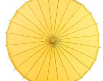 "32"" Yellow Paper Parasol Umbrella - 40PP-YE"