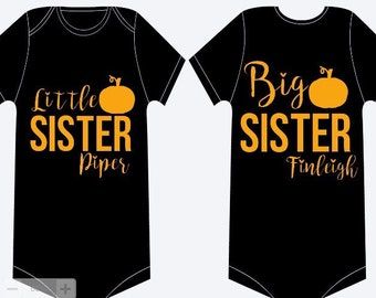 Fall Big Sister/Little Sister Set, Big Sister Shirt, Little Sister Shirt, Sisters Shirts, Sister Shirts Fall, Pumpkin Shirt