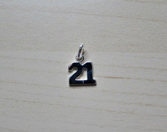 Solid Sterling Silver (925) 21 Charm