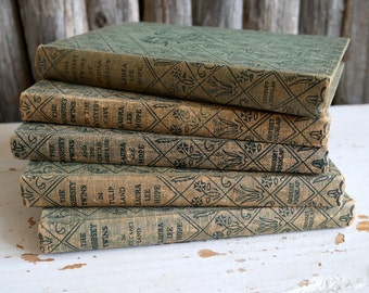 Set of 5 The Bobbsey Twins Books / Antique Hardcover Books for Children / Old Book Collection