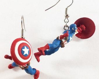 Captain America Heroclix earrings