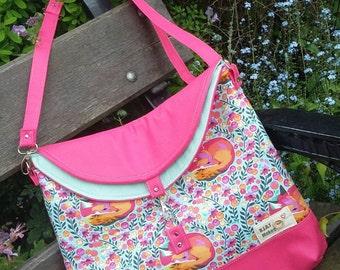 Hobo Bag (Hippo Hobo Bag) lovely Foxes