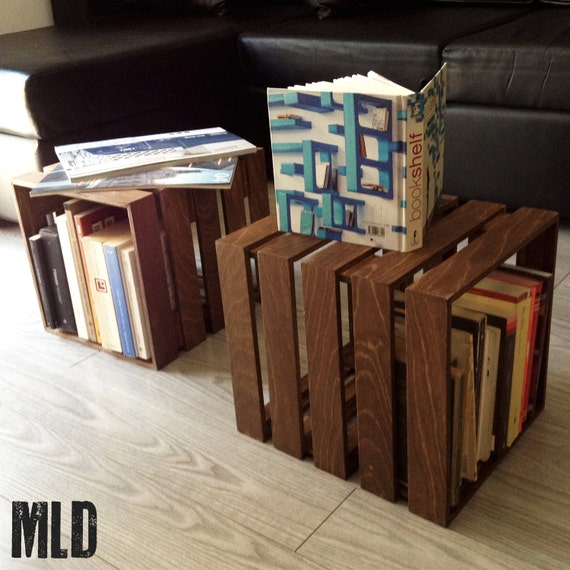The CUBOT: modular wooden cube in modular MLDesign 2. Glove box, table, bookcase, wooden bedside table. Handmade product
