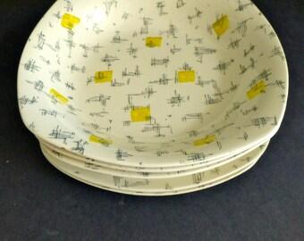 Midwinter Modern 'Savanna' by Jessie Tait - 3 Bowls, 2 Side Plates - 1960s