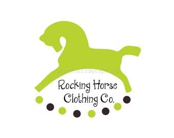 Rocking Horse Logo, Children's Clothing Logo, Children's Boutique Logo, Premade Logo Design, Customizable Business Logo, Small Business Logo