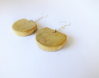 Wooden earrings with silver 925