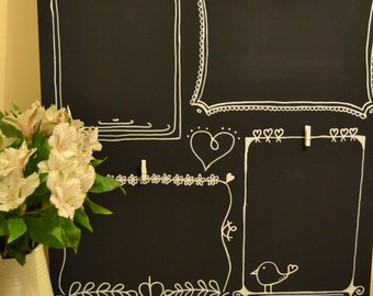 FRAME IT: Chalkboard display for loved art