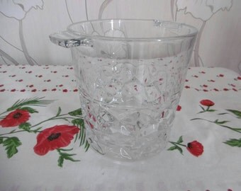 Champagne bucket / ice bucket / glass / french vintage of the 1970s