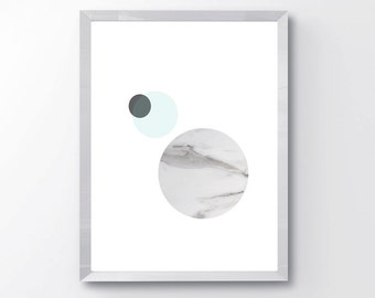 Abstract Marble Circle Wall Art PRINTABLE - Marble Moon Print - Modern Abstract Print - Modern Abstract Wall Art - Marble Circle Print