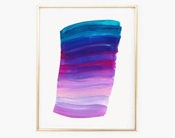 Blue, Purple, and Pink Paint Stripes and Strokes, 8 x 10, digital download