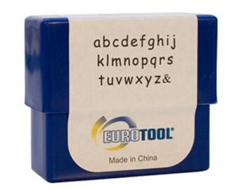 Siena Alphabet Stamp Set, Lower Case, 3mm, 27 Piece Set | PUN-710.00