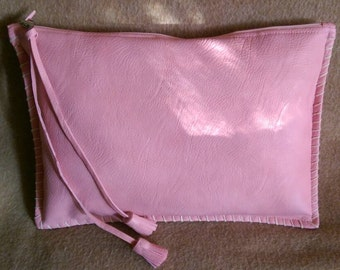 Pink Clutch with Tassels