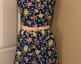 70's Floral Shift Dress
