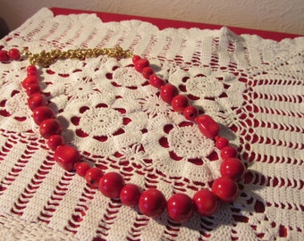 Hand Crafted Natural Coral Necklace